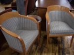 Barell Back Side Chairs with matching Side Table