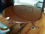 Mahogany Round Table