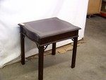 Leather Inlayed End Table