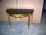 Side Table with Half Moon Top