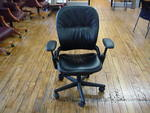 Leather Steelcase Leap Chairs