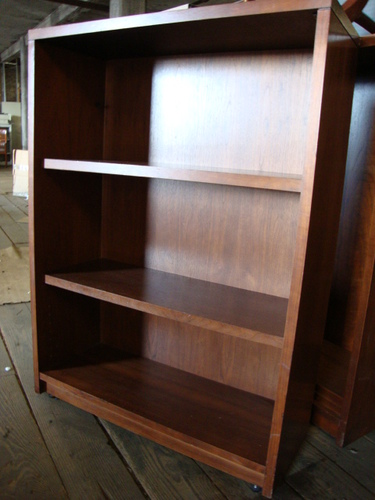 Steelcase Walnut Bookcases