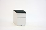 "New 24"" B/F Mobile Pedestal with Cusion Top"