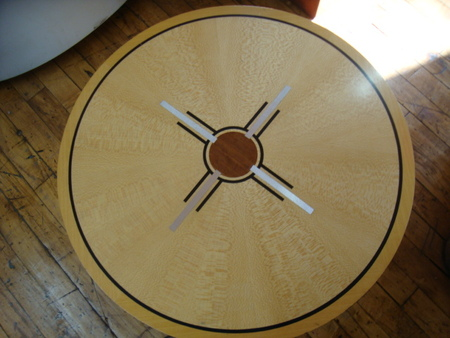 Surface detail on round table