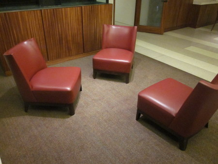 Red Reception Seating