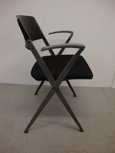 side view of stack chairs